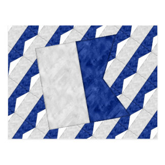 Postal Bandera marítima de la señal náutica de la