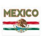 Postal Bandera mexicana de México