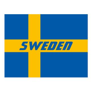 Postal Bandera nacional de Suecia