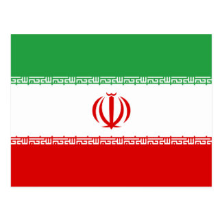 Postal Bandera nacional del mundo de Irán