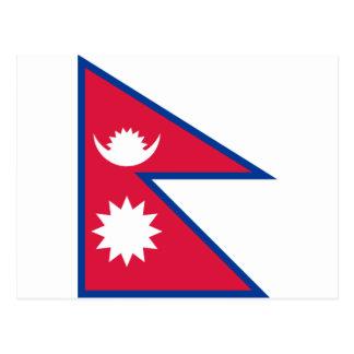 Postal Bandera nacional del mundo de Nepal