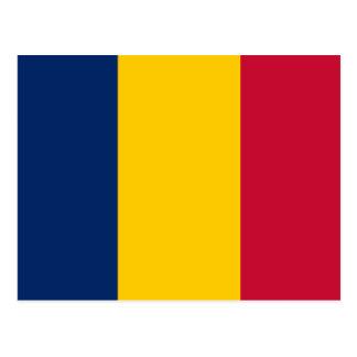 Postal Bandera nacional del mundo de República eo Tchad