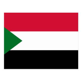 Postal Bandera nacional del mundo de Sudán