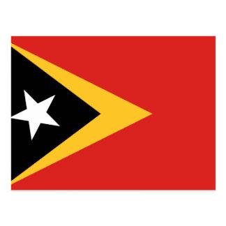 Postal Bandera nacional del mundo de Timor Oriental