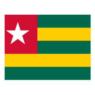 Postal Bandera nacional del mundo de Togo