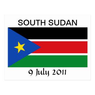 Postal Bandera nacional del sur de Sudán