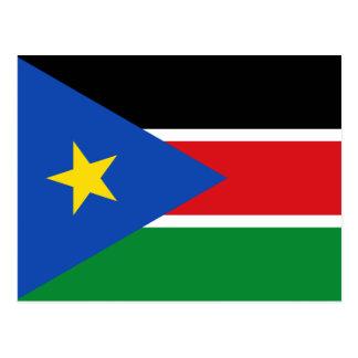 Postal Bandera nacional del sur del mundo de Sudán