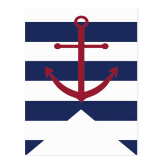 Postal Bandera náutica del empavesado del ancla de la