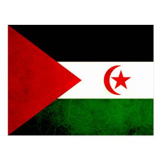 Postal Bandera nerviosa moderna de Sahrawi
