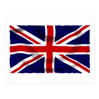 Postal Bandera patriótica de Union Jack del Reino Unido