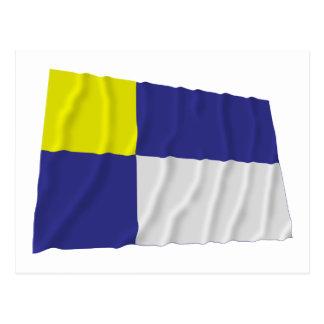 Postal Bandera que agita de Bratislava