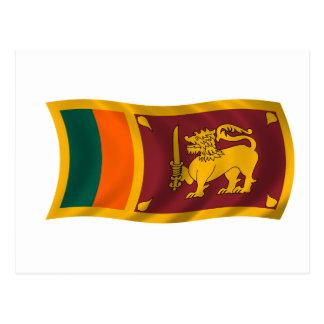 Postal Bandera que agita de Sri Lanka