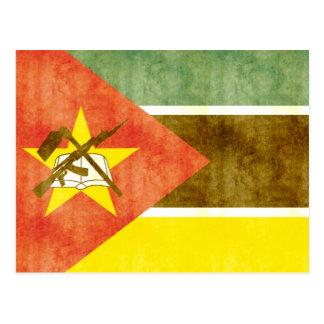 Postal Bandera retra de Mozambique del vintage