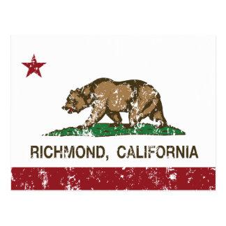 Postal Bandera Richmond del estado de California