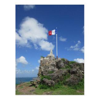 """Postal Bandera """"St. Maarten """" de Louis del fuerte"""