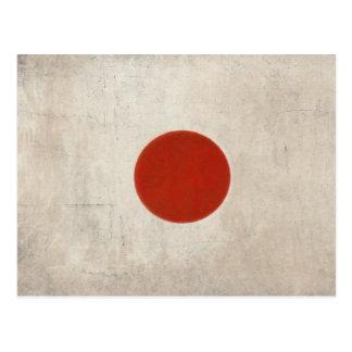 Postal Bandera sucia del vintage de Japón