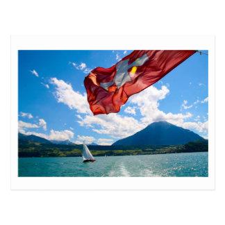 Postal bandera suiza