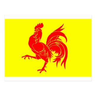 Postal Bandera valona (de Bélgica) - Drapeau de la