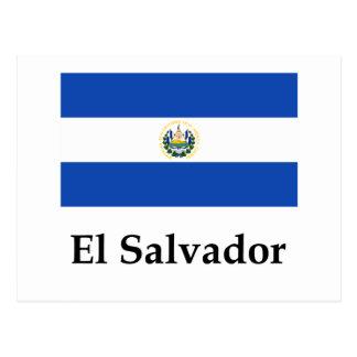Postal Bandera y nombre de El Salvador