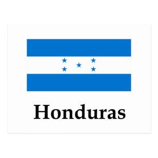 Postal Bandera y nombre de Honduras