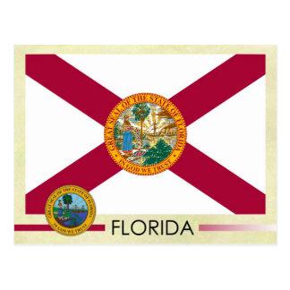 Postal Bandera y sello del estado de la Florida