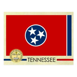 Postal Bandera y sello del estado de Tennessee