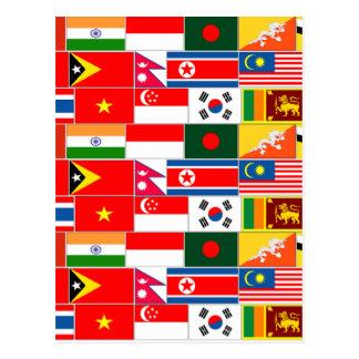 Postal Banderas asiáticas