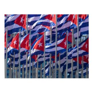 Postal Banderas cubanas, La Habana, Cuba