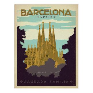 Postal Barcelona, España - Sagrada Familia