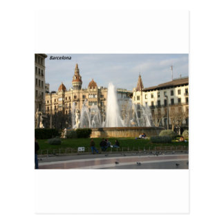 Postal Barcelona--Plaza--Catalunya--[kan.k] .JPG