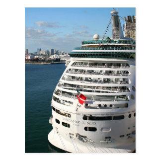 Postal Barco de cruceros