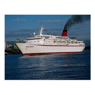 """Postal Barco de cruceros """"princesa de Cunard """""""