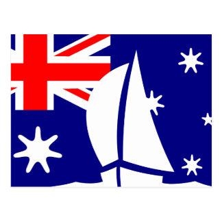 Postal Barco de navegación de la bandera de Australia