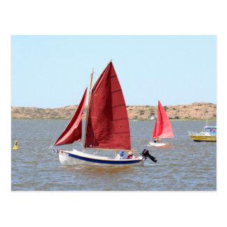 Postal Barco de vela de madera
