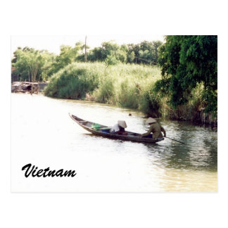 Postal barco del Mekong