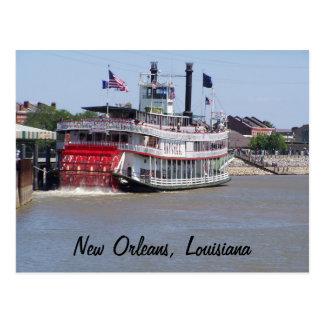 Postal Barco del río Misisipi de New Orleans Luisiana