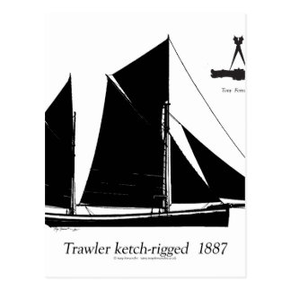 Postal barco rastreador 1887 ketch-aparejado - fernandes