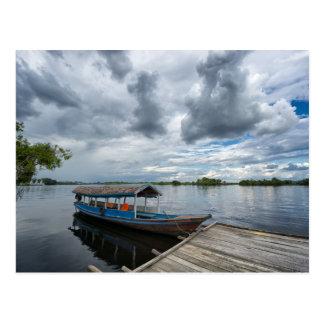 Postal Barco turístico del Amazonas