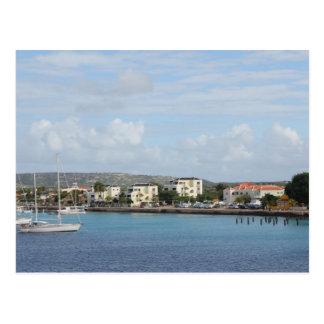 Postal Barcos de navegación del puerto de Bonaire