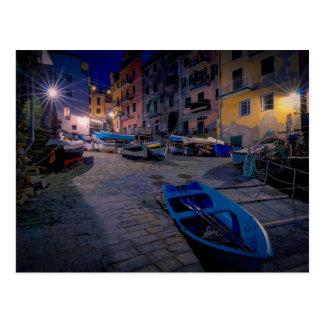 Postal Barcos de pesca en Riomaggiore, Cinque Terre,