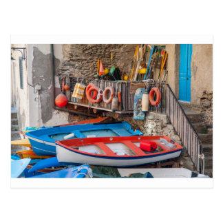 Postal Barcos en Cinque Terre Italia