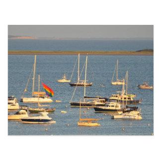 Postal Barcos en la bahía de Provincetown