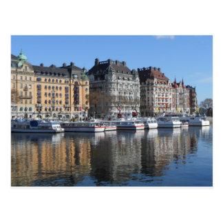 Postal Barcos y edificios de Estocolmo