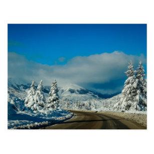 Postal Bariloche, camino a la estación de esquí