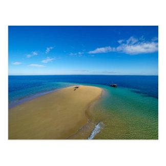 Postal Barra de arena e isla del Ibo del Dhow el  ,