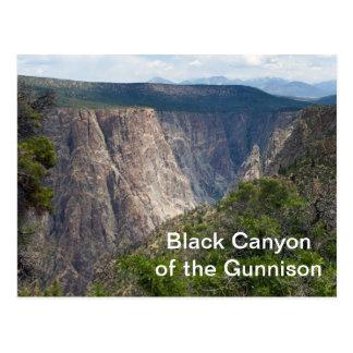 Postal Barranco negro del parque nacional de Gunnison