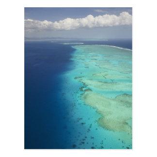 Postal Barrera de arrecifes de Malolo de la isla de