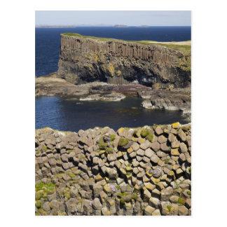 Postal Basalto poligonal, Staffa, de la isla Mull,