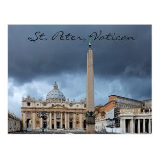 Postal Basicila de San Pedro, ciudad santa de Vatican
