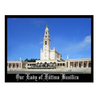 Postal Basílica de nuestra señora de Fátima en Fátima,